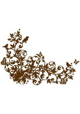 Stickers oiseaux et papillons.