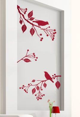 Stickers oiseaux sur branches