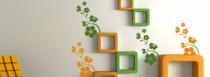 Le stickers orientation de fleurs pour décorer l\'intérieur