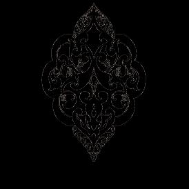 Le stickers ornement oriental en noir pour une décoration exotique
