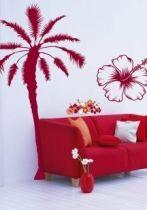 Stickers palmier découpé à la forme dans vinyle adhésif pour se croire en vacances toute l\'année. Choissisez votre stickers palmier dans 22 couleurs disponibles.