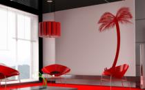 Le stickers palmier touffu pour décorer l\'intérieur sur le thème de la nature