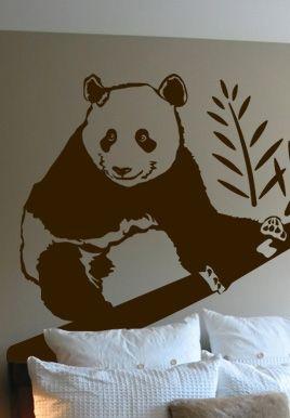 stickers muraux panda