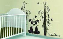 Stickers panda et bambous