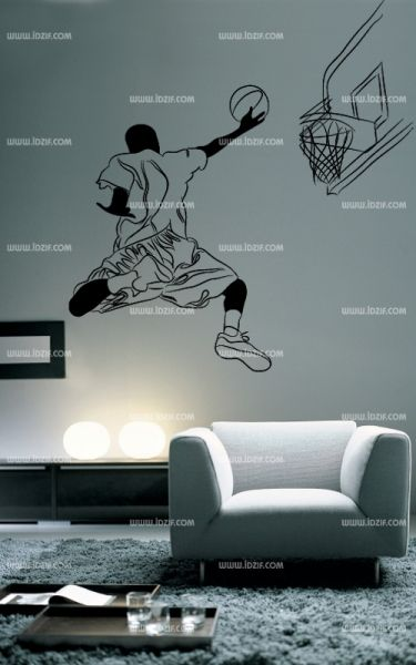 stickers joueur de basket