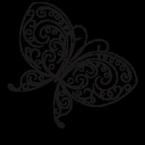 Le stickers papillon esquisse pour décorer avec douceur