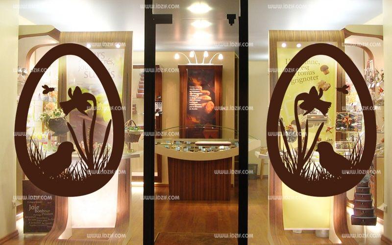Stickers p ques pour vitrine - Decoration paques vitrine ...