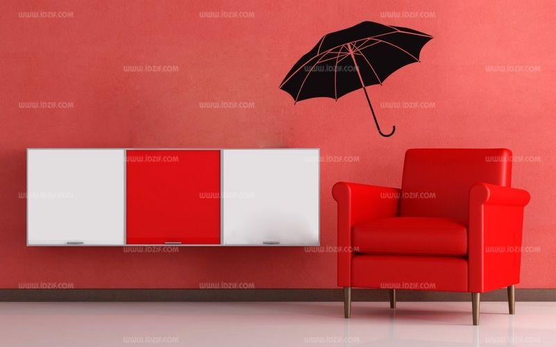 stickers parapluie ouvert