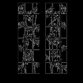 Le stickers paravent chinois bambous en noir pour une décoration exotique