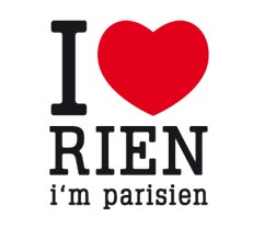 Stickers paristic i love rien