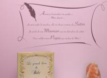 Le stickers paroles de bébé pour décorer une chambre d\'enfant