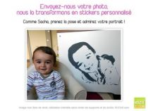 stickers photo enfant