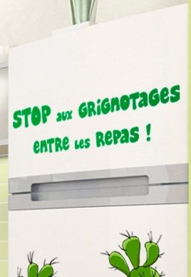 Stickers phrase grignotage