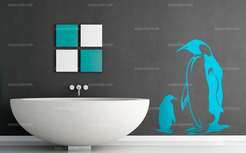 Stickers pingouin père et fils