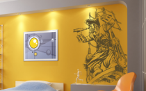 Le stickers pirate crochet pour décorer une chambre d\'enfant