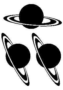 Stickers planetes : Saturnes