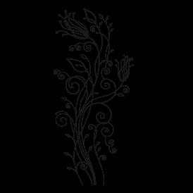 Le stickers plante au trait vous permettra de décorer un support (mur, meuble) avec un stickers nature