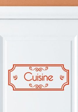 stickers cuisine porte