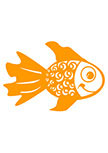 stickers poisson découpé à la forme dans vinyle de couleur unie. A vous de choisir la couleur et la taille du stickers poisson qui correspond le mieux à votre décoration.