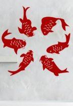 stickers poissons salle de bain