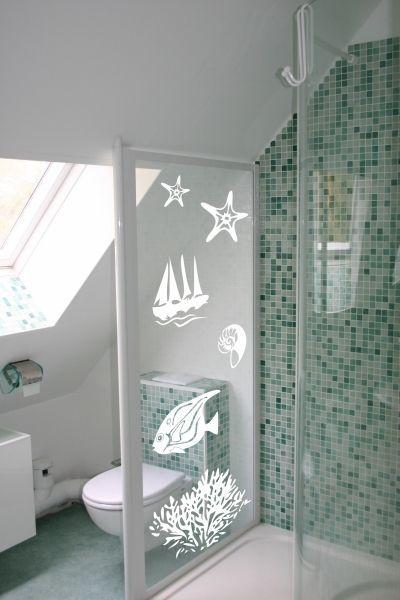 Stickers poisson pour déco de salle de bain