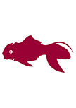 Stickers Poisson rouge