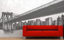 Le stickers pont de New-York pour la déco d\'intérieur