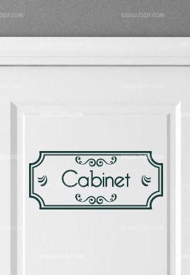 Stickers porte cabinet