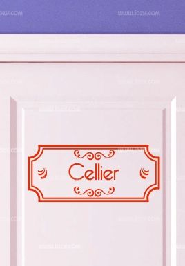 Stickers porte cellier for Porte cellier