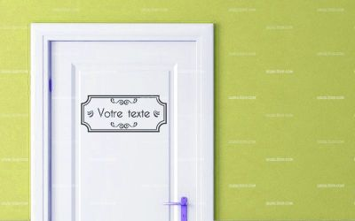 Stickers porte personnalisable - Decoration porte de chambre ...