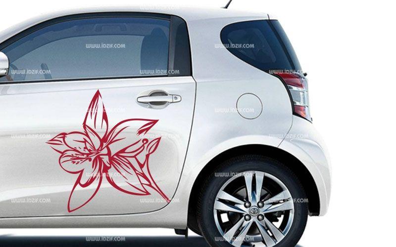 Stickers portière fleur