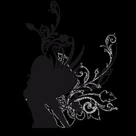 Le stickers pouvoir de la fée en noir pour décorer l\'intérieur sur le thème des fées