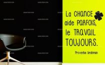 Stickers proverbe travail