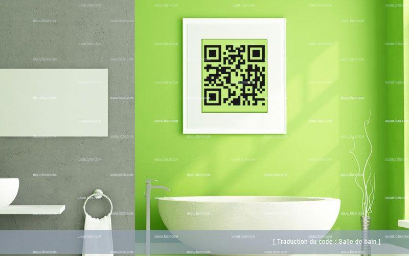 Stickers QR code salle de bain