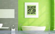 stickers salle de bain qr code