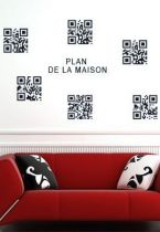 Stickers codes QR maison