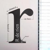 Stickers R de rien by HMC