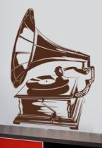 stickers muraux gramophone