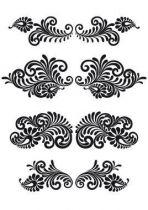 Stickers rétro papier peint.
