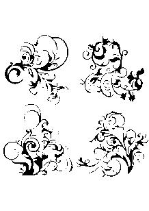 Stickers rétro planche baroque.