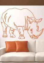 stickers muraux rhinoceros