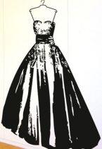 Stickers robe de soirée pour créer un décor mural de star dans son intérieur. En vente sur iDzif.com