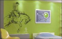 Le stickers rodéo amérique pour décorer une chambre d\'enfant