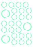 Stickers RONDS. Visuels découpés à la forme dans vinyle de couleur unie : 25 Ronds