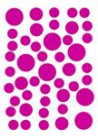 stickers muraux ronds. 69 stickers Ronds découpés à la forme dans vinyle de couleur unie.