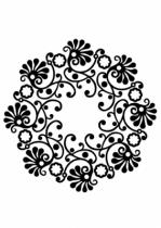 stickers rosace : Rosaly idéale pour décorer votre plafond. Sticker découpé à la forme dans vinyle de couleur unie.