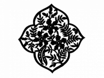 Le stickers rosace asiatique en noir pour une décoration exotique