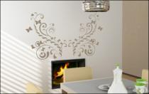 Le stickers ruban floral et papillon pour une décoration pleine de douceur