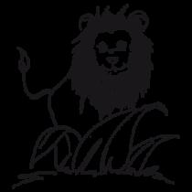 Le stickers safari lion pour décorer une chambre d\'enfant