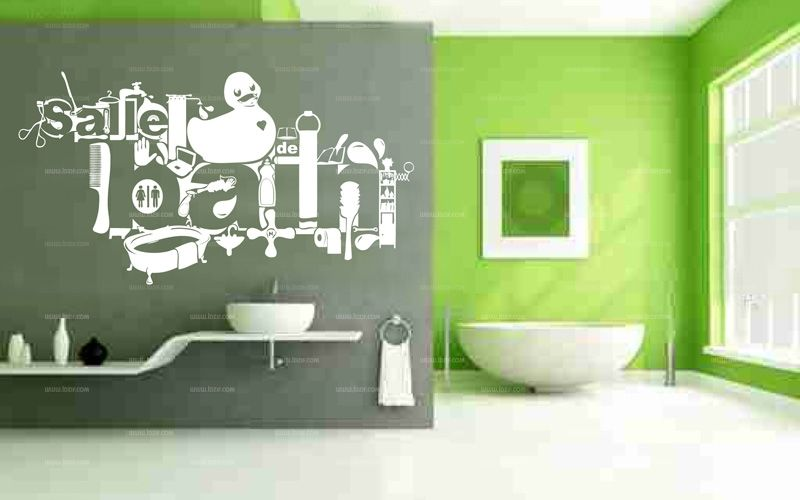 sticker salle de bain. Black Bedroom Furniture Sets. Home Design Ideas